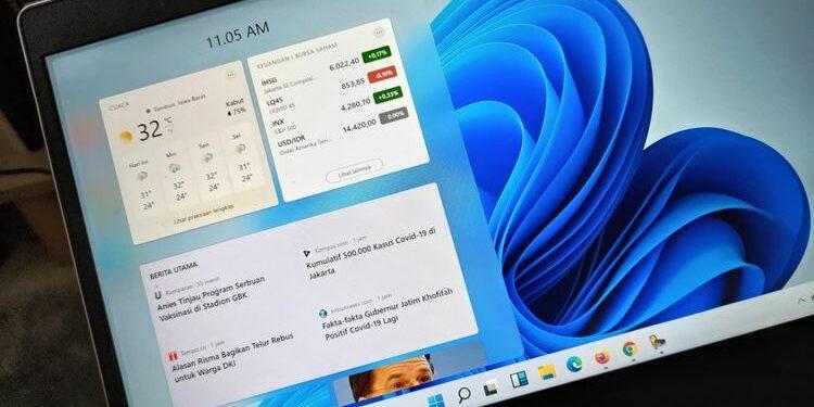 Ilustrasi tampilan Windows 11